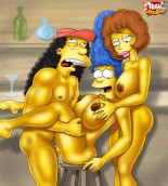 Sexy Marge in dirty poses - The Simpsons Girls